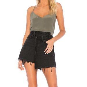 NWT Agolde Criss Cross Mini Denim Skirt in Pivot